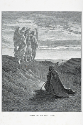 Mormon Abraham and the Angels by Gustave Doré
