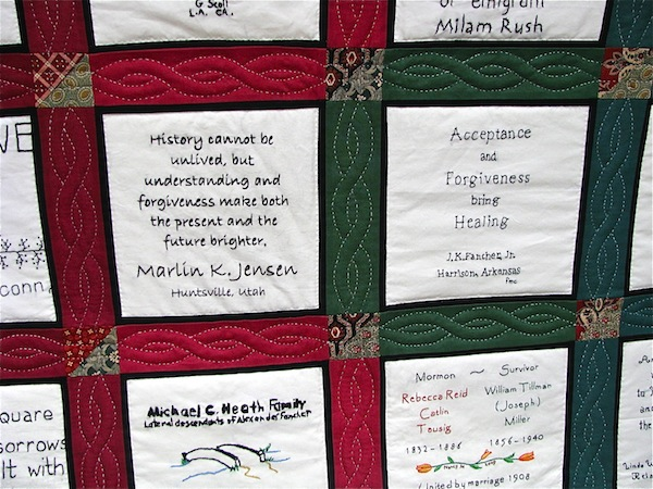 Mountain Meadows Massacre quilt