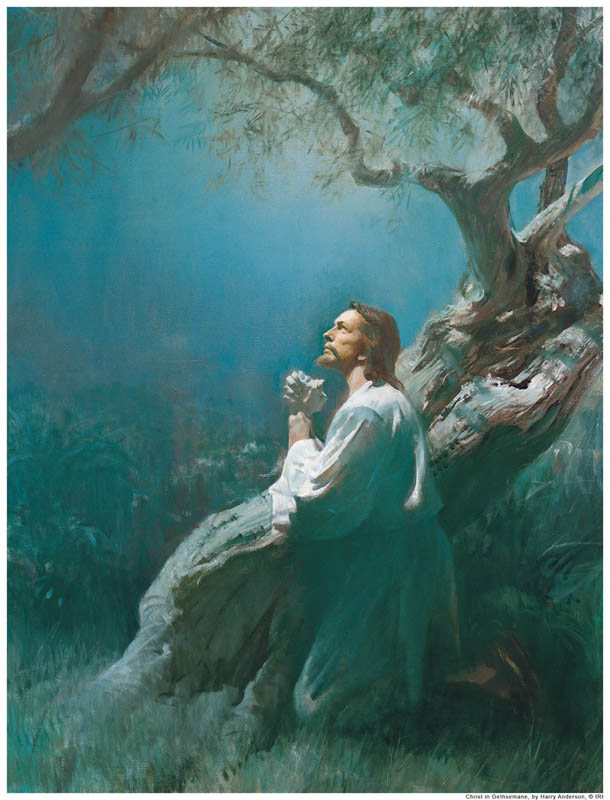 Atonement of Jesus Praying in Getsemane Mormon