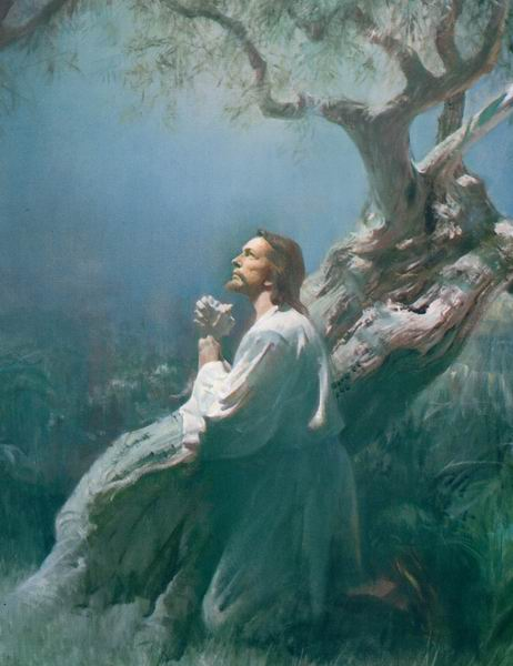 Jesus suffers for our sins in Gethsemane Mormon