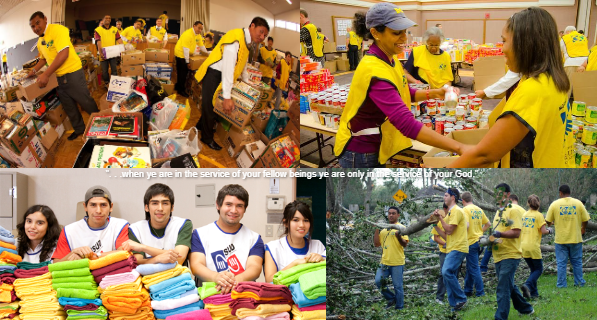 Latter-day Saints help those in need around the world.