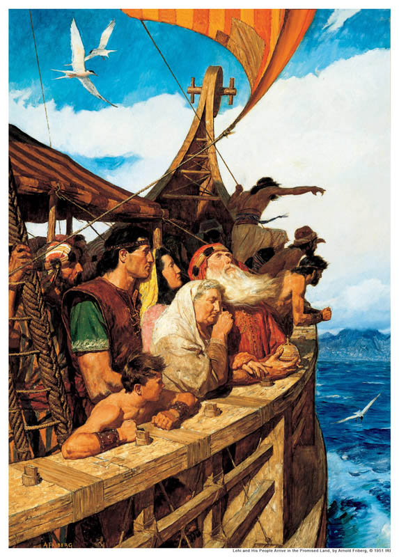 Lehi and Nephi with Sariah to Promised Land