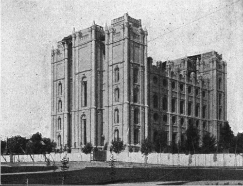 The Salt Lake Mormon Temple in 1912