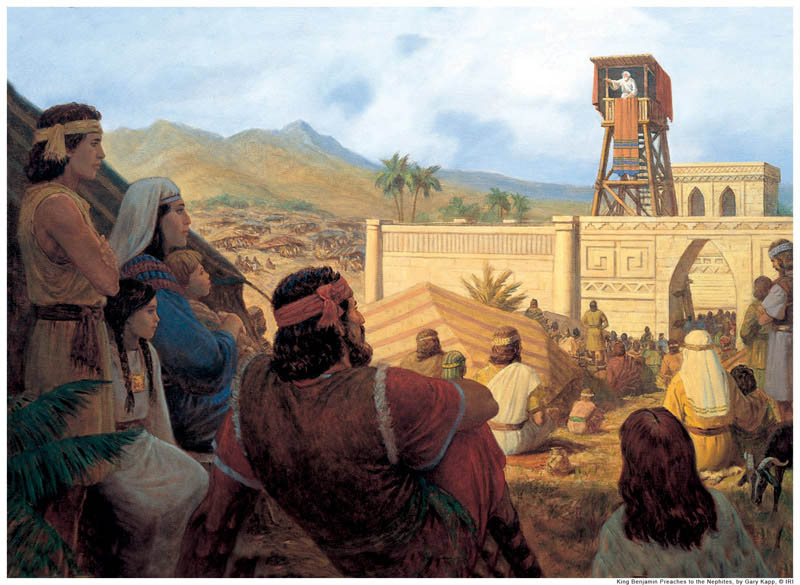 Book of Mormon King Benjamin Speak on Tower