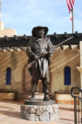 The monument at the Mormon Battalion Memorial