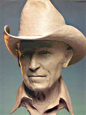 Earl Bascom by another sculptor
