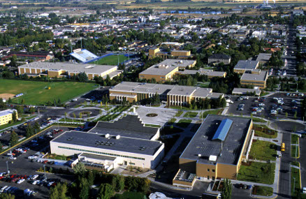 BYU-Idaho campus, aerial view