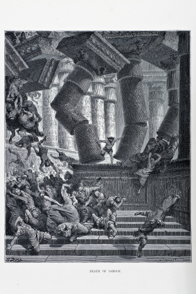 The Death of Samson by Gustave Doré