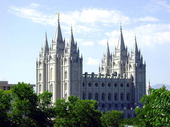 The Salt Lake Mormon Temple is the heart of Temple Square. c2002 Brigham Young University. All rights reserved.