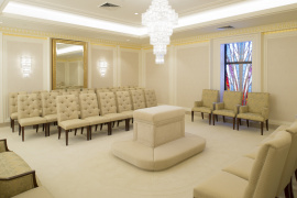 A Sealing Room In The Jordan River Utah Temple.