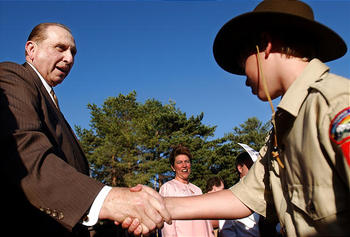 Mormon Scouts with Pres Monson