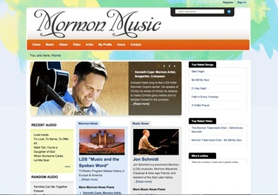 Mormon Music Website