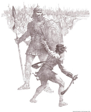 David and Goliath Mormon