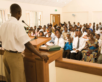 Mormon Ward Church Meeting
