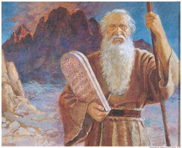 """Оберег """"Сохранка Моисея"""" 600px-Ten-commandments-mormon-moses"""