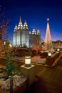 Mormon Temple Square Christmas Lighting