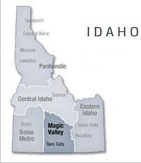 Magic Valley Idaho Map