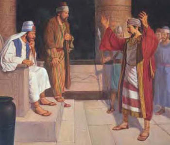 Alma Confronts Korihor in Book of Mormon