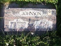 Grave marker of Luke S. Johnson