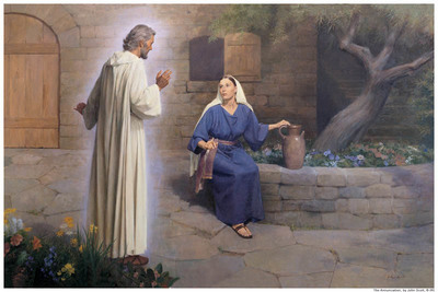 Angel Gabriel Ministers to Mary Mormon