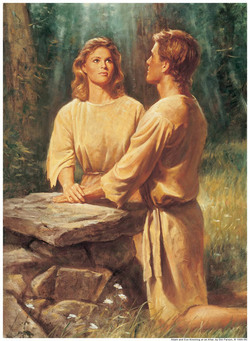 Adam and Eve on Altar Mormon