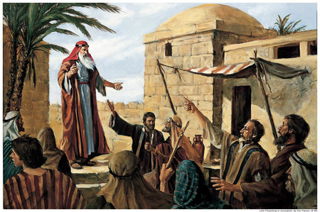 Book of Mormon Lehi Prophesy in Jerusalem