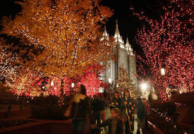Mormon temple Christmas